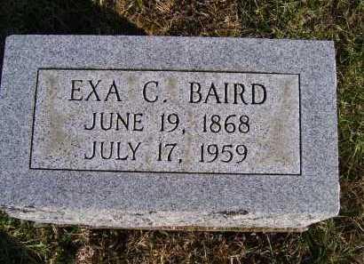 BAIRD, EXA C. - Adams County, Ohio   EXA C. BAIRD - Ohio Gravestone Photos