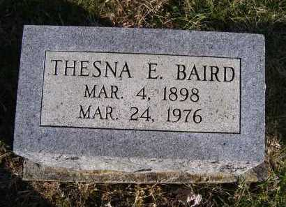 BAIRD, THESNA E. - Adams County, Ohio   THESNA E. BAIRD - Ohio Gravestone Photos