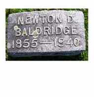 BALDRIDGE, NEWTON D. - Adams County, Ohio | NEWTON D. BALDRIDGE - Ohio Gravestone Photos