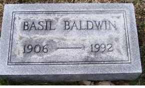 BALDWIN, BASIL - Adams County, Ohio | BASIL BALDWIN - Ohio Gravestone Photos