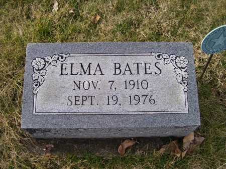 BATES, ELMA - Adams County, Ohio | ELMA BATES - Ohio Gravestone Photos