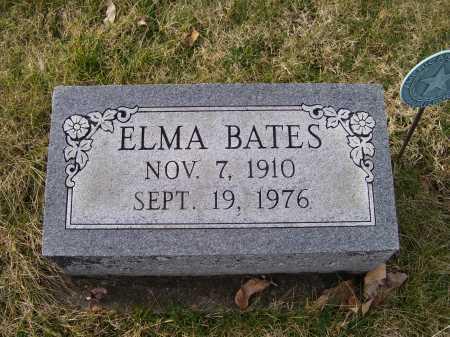 BATES, ELMA - Adams County, Ohio | ELMA BATES - Ohio Gravestone Photos