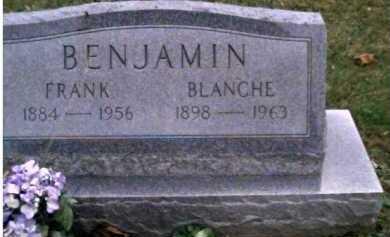 BENJAMIN, BLANCHE - Adams County, Ohio | BLANCHE BENJAMIN - Ohio Gravestone Photos