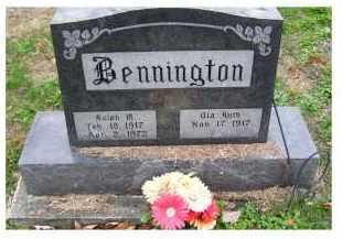 BENNINGTON, OLA RUTH - Adams County, Ohio | OLA RUTH BENNINGTON - Ohio Gravestone Photos