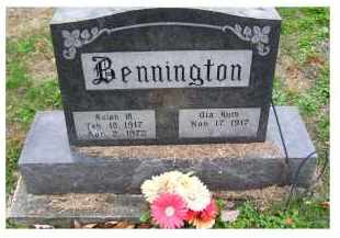 BENNINGTON, RALPH M. - Adams County, Ohio | RALPH M. BENNINGTON - Ohio Gravestone Photos