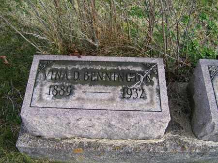 BENNINGTON, VINA D. - Adams County, Ohio | VINA D. BENNINGTON - Ohio Gravestone Photos