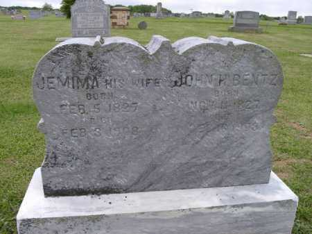 BENTZ, JEMIMA - Adams County, Ohio | JEMIMA BENTZ - Ohio Gravestone Photos