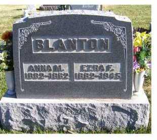 BLANTON, EZRA F. - Adams County, Ohio   EZRA F. BLANTON - Ohio Gravestone Photos
