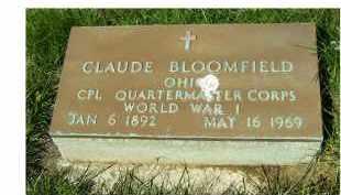BLOOMFIELD, CLAUDE - Adams County, Ohio | CLAUDE BLOOMFIELD - Ohio Gravestone Photos