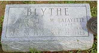 BLYTHE, M. LAFAYETTE - Adams County, Ohio | M. LAFAYETTE BLYTHE - Ohio Gravestone Photos