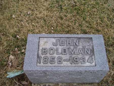 BOLDMAN, JOHN - Adams County, Ohio | JOHN BOLDMAN - Ohio Gravestone Photos