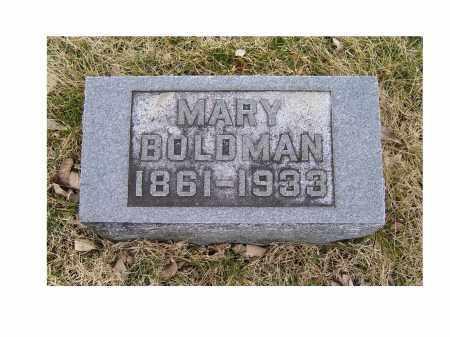 BOLDMAN, MARY - Adams County, Ohio   MARY BOLDMAN - Ohio Gravestone Photos