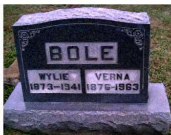 BOLE, VERNA - Adams County, Ohio | VERNA BOLE - Ohio Gravestone Photos