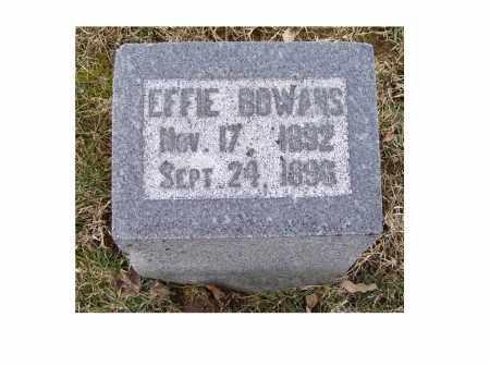 BOWANS, EFFIE - Adams County, Ohio | EFFIE BOWANS - Ohio Gravestone Photos