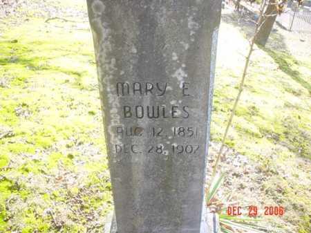 BOWLES, MARY E. - Adams County, Ohio   MARY E. BOWLES - Ohio Gravestone Photos