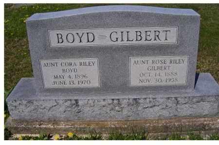 BOYD, CORA RILEY - Adams County, Ohio | CORA RILEY BOYD - Ohio Gravestone Photos