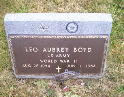 BOYD, LEO AUBREY - Adams County, Ohio   LEO AUBREY BOYD - Ohio Gravestone Photos