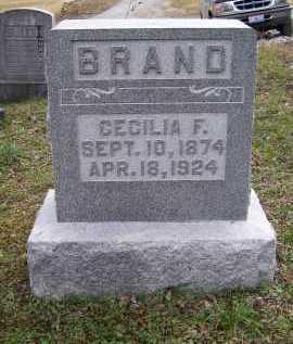 BRAND, CECILIA F. - Adams County, Ohio   CECILIA F. BRAND - Ohio Gravestone Photos