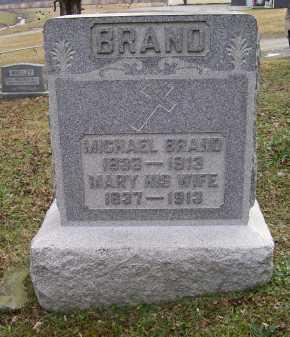 BRAND, MARY - Adams County, Ohio | MARY BRAND - Ohio Gravestone Photos