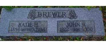 BREWER, JOHN W. - Adams County, Ohio | JOHN W. BREWER - Ohio Gravestone Photos