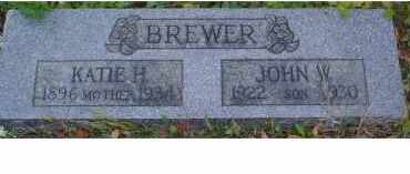 BREWER, KATIE H. - Adams County, Ohio | KATIE H. BREWER - Ohio Gravestone Photos