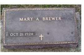 BREWER, MARY A. - Adams County, Ohio | MARY A. BREWER - Ohio Gravestone Photos