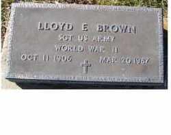 BROWN, LLOYD  E. - Adams County, Ohio | LLOYD  E. BROWN - Ohio Gravestone Photos