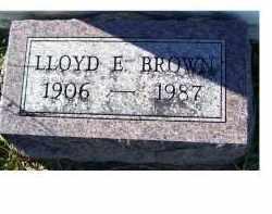 BROWN, LLOYD E. - Adams County, Ohio   LLOYD E. BROWN - Ohio Gravestone Photos