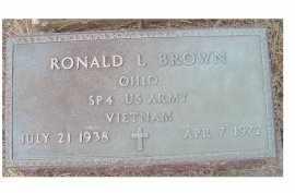 BROWN, RONALD L. - Adams County, Ohio | RONALD L. BROWN - Ohio Gravestone Photos