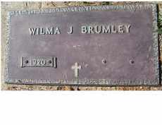 BRUMLEY, WILMA J. - Adams County, Ohio   WILMA J. BRUMLEY - Ohio Gravestone Photos