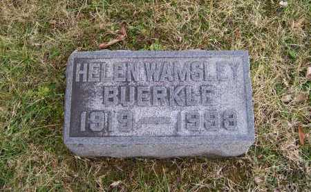 WAMSLEY BUERKLE, HELEN - Adams County, Ohio | HELEN WAMSLEY BUERKLE - Ohio Gravestone Photos