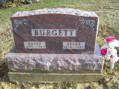 BURGETT, FRANK - Adams County, Ohio   FRANK BURGETT - Ohio Gravestone Photos