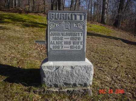 BURKITT, ALICE - Adams County, Ohio | ALICE BURKITT - Ohio Gravestone Photos