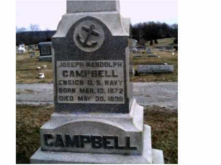 CAMPBELL, JOSEPH RANDOLPH - Adams County, Ohio   JOSEPH RANDOLPH CAMPBELL - Ohio Gravestone Photos