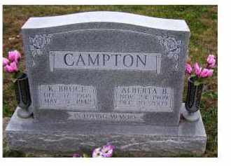 CAMPTON, K. BRUCE - Adams County, Ohio | K. BRUCE CAMPTON - Ohio Gravestone Photos