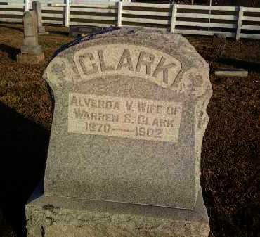 CLARK, ALVERDA - Adams County, Ohio | ALVERDA CLARK - Ohio Gravestone Photos