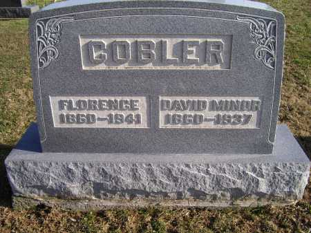 COBLER, FLORENCE - Adams County, Ohio | FLORENCE COBLER - Ohio Gravestone Photos