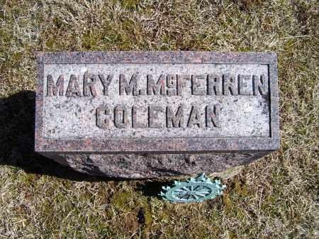 COLEMAN, MARY M. - Adams County, Ohio | MARY M. COLEMAN - Ohio Gravestone Photos