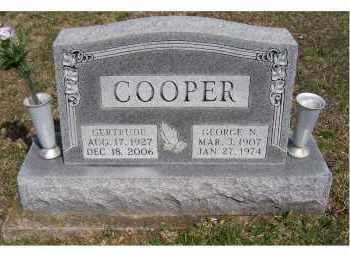 COOPER, GERTRUDE - Adams County, Ohio   GERTRUDE COOPER - Ohio Gravestone Photos
