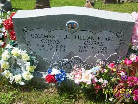 COPAS, COLEMAN EDWARD JR - Adams County, Ohio   COLEMAN EDWARD JR COPAS - Ohio Gravestone Photos