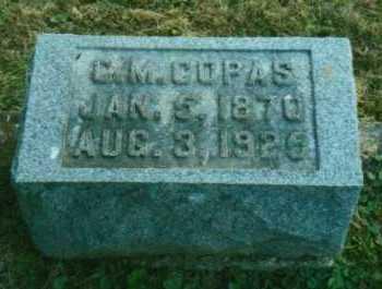 COPAS, CLEMENT MAURICE - Adams County, Ohio   CLEMENT MAURICE COPAS - Ohio Gravestone Photos