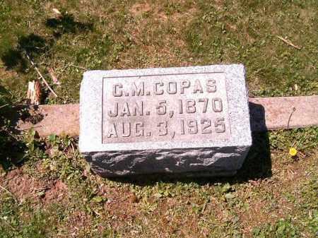 COPAS, C  M - Adams County, Ohio   C  M COPAS - Ohio Gravestone Photos