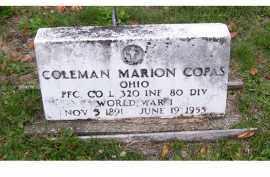 COPAS, COLEMAN MARION - Adams County, Ohio | COLEMAN MARION COPAS - Ohio Gravestone Photos