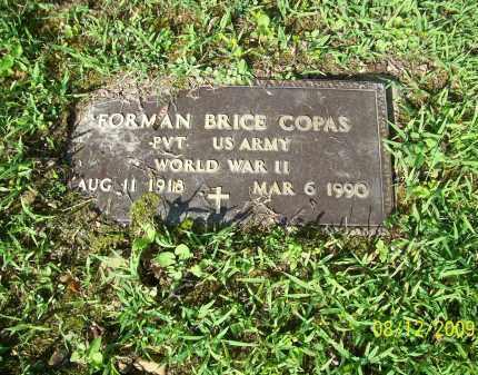 COPAS, FORMAN BRICE - Adams County, Ohio | FORMAN BRICE COPAS - Ohio Gravestone Photos