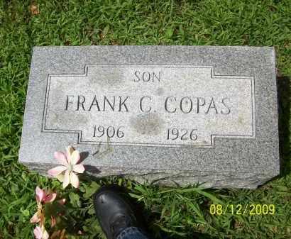 COPAS, FRANK C - Adams County, Ohio   FRANK C COPAS - Ohio Gravestone Photos