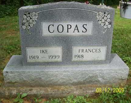 COPAS, FRANCES - Adams County, Ohio   FRANCES COPAS - Ohio Gravestone Photos
