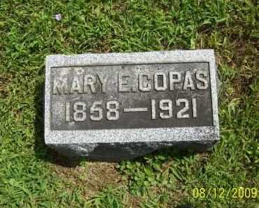 COPAS, MARY E - Adams County, Ohio   MARY E COPAS - Ohio Gravestone Photos