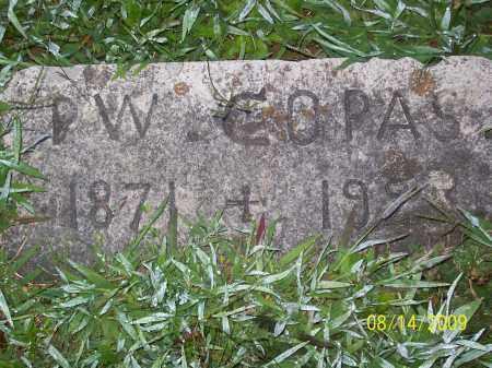 COPAS, PERIT W - Adams County, Ohio | PERIT W COPAS - Ohio Gravestone Photos