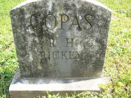 COPAS, R. H. - Adams County, Ohio | R. H. COPAS - Ohio Gravestone Photos