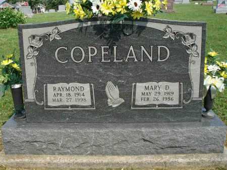 COPELAND, MARY D - Adams County, Ohio | MARY D COPELAND - Ohio Gravestone Photos